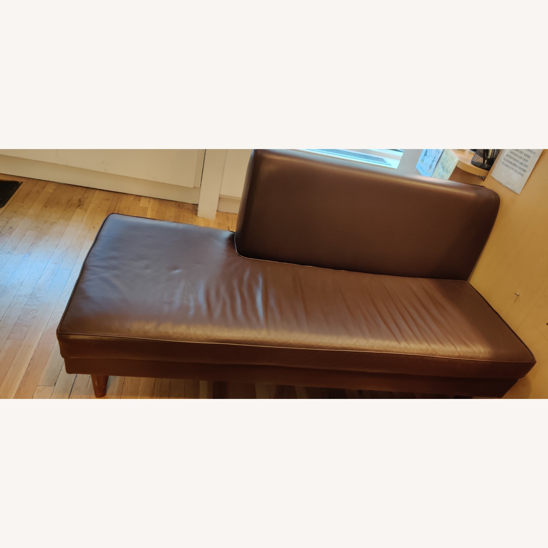 Edelman Leather Custom Made Armless Sofas - image-3