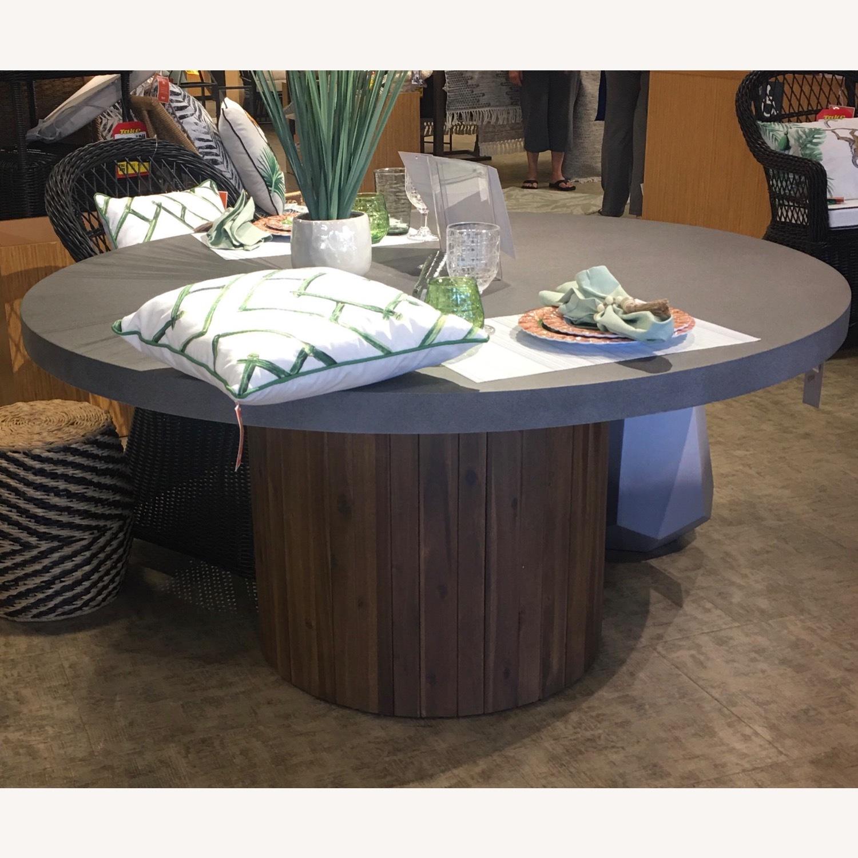 Pier 1 Imports Concrete Conversation Table - image-1