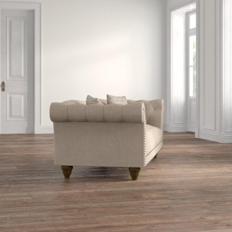 Wayfair Versailles Chesterfield Rolled Arm Sofa - image-3