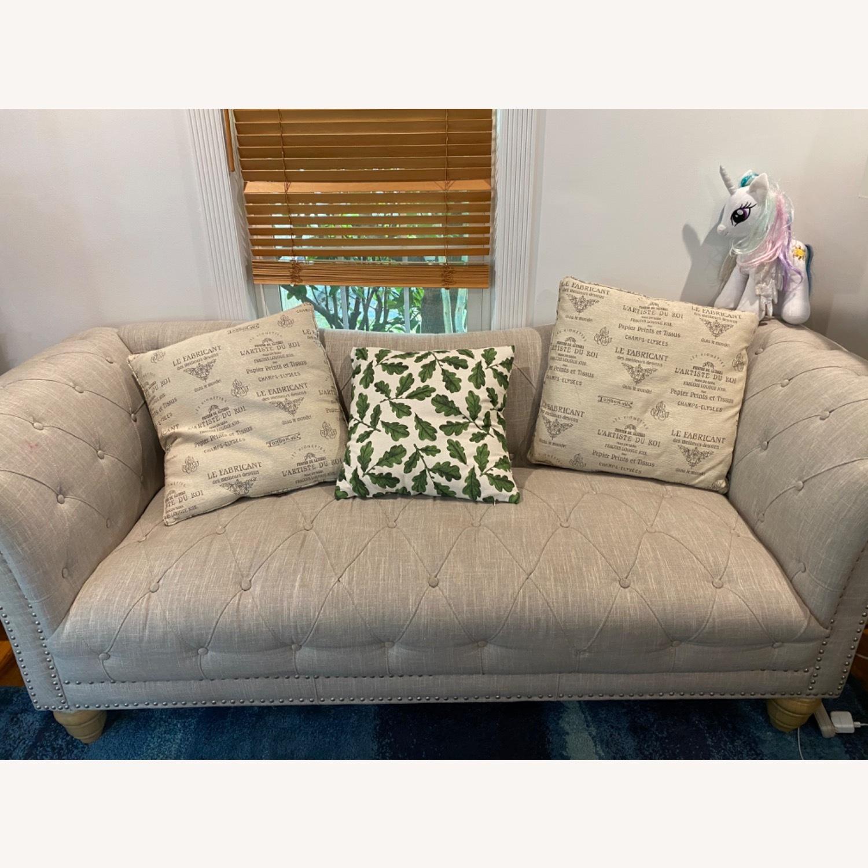 Wayfair Versailles Chesterfield Rolled Arm Sofa - image-1