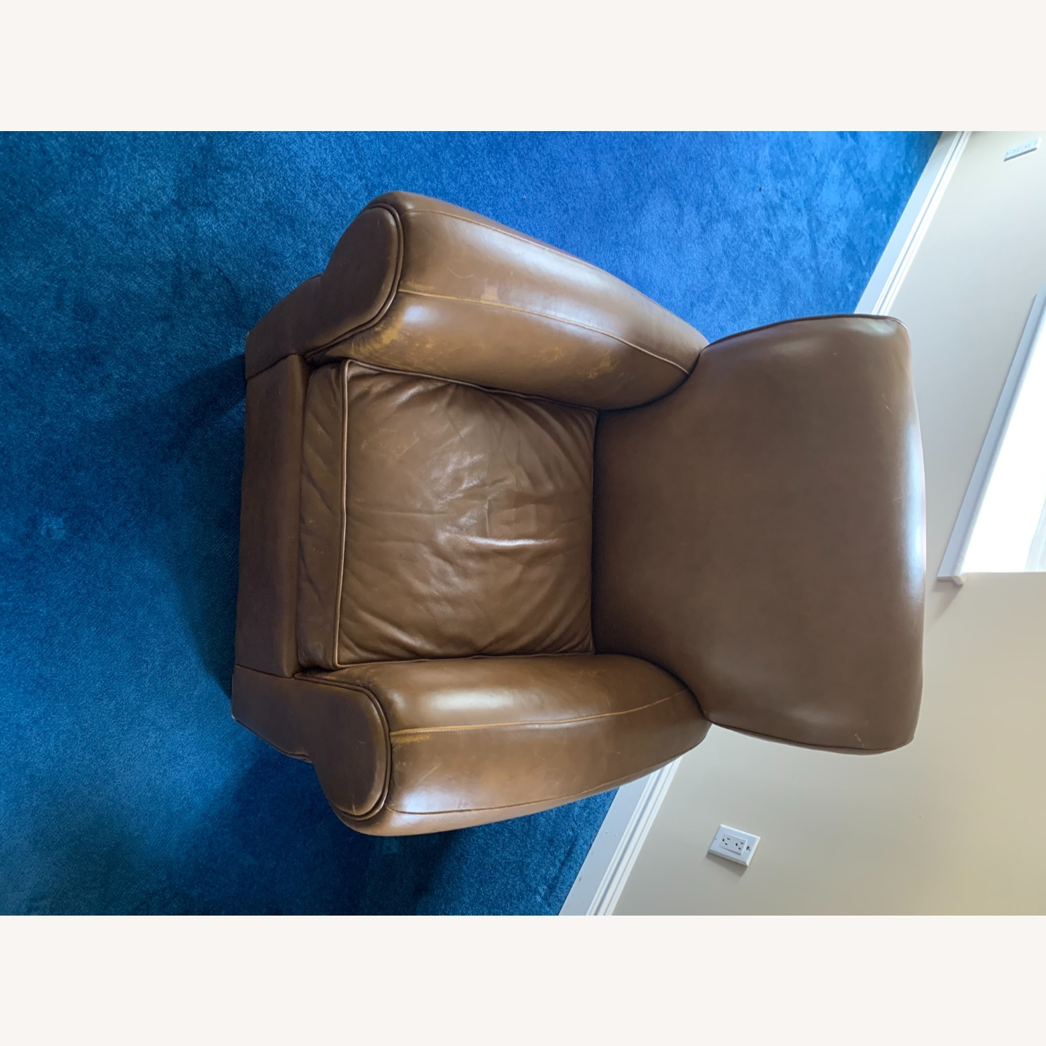 Pottery Barn Leather Armchair - image-8