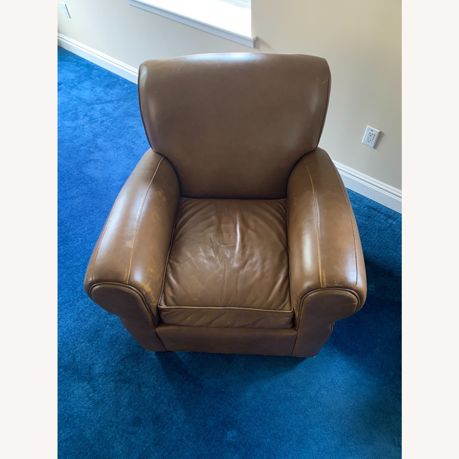 Pottery Barn Leather Armchair - image-3