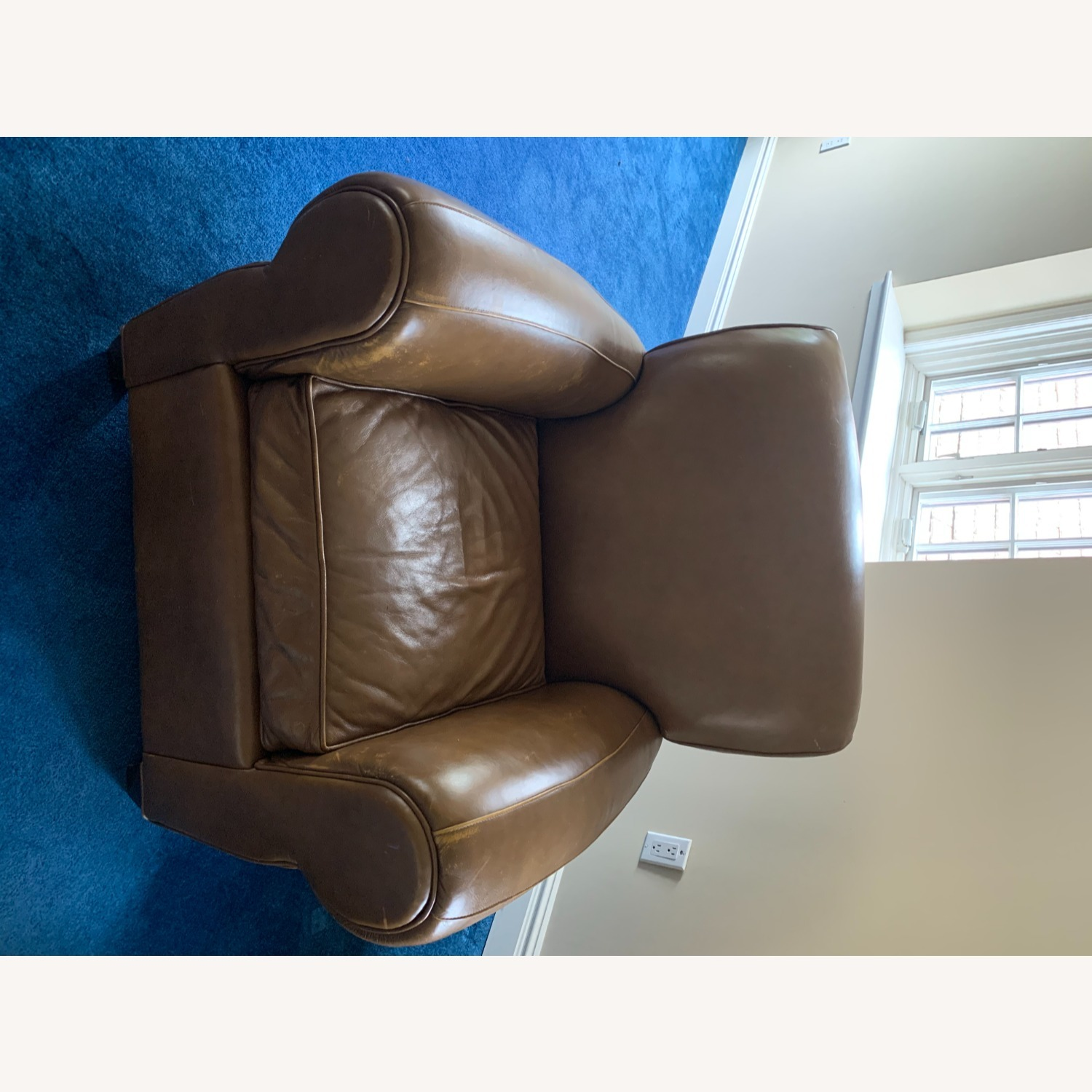 Pottery Barn Leather Armchair - image-10