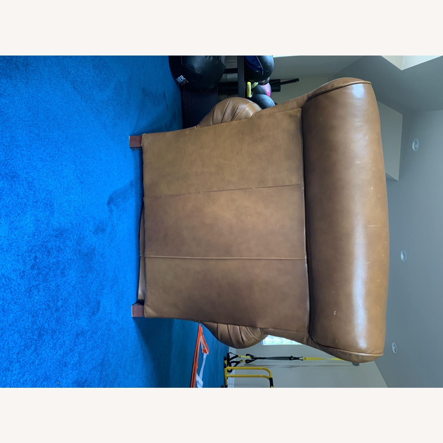Pottery Barn Leather Armchair - image-11