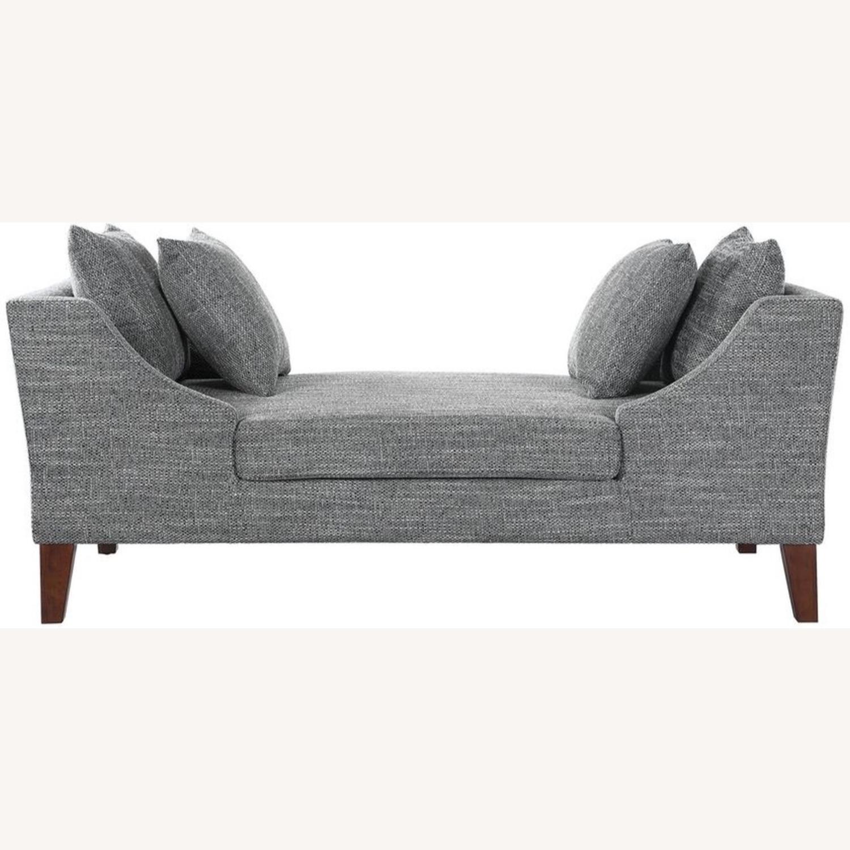 Modern Bench In A Soft Multi-Tonal Grey Fabric - image-2