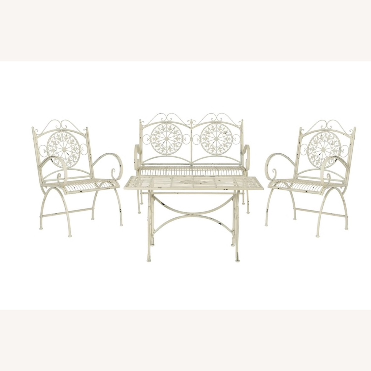 Safavieh Outdoor Rustic Antique White Iron Set - image-1