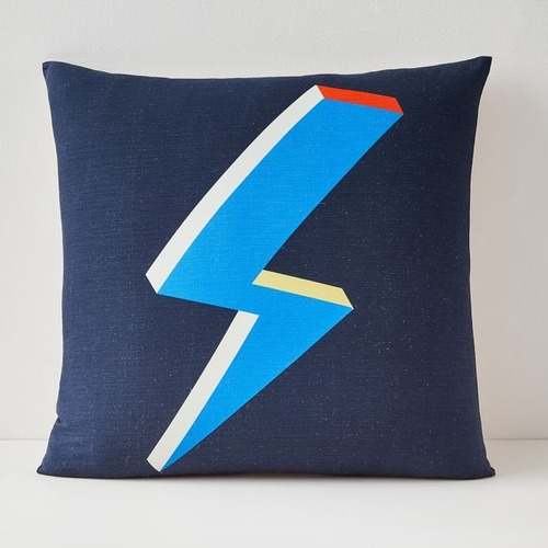 Used West Elm Lightning Bolt Pillow Cover for sale on AptDeco