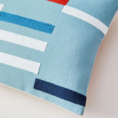 Used West Elm Margo Selby Staggered Stripe Pillow Cover for sale on AptDeco