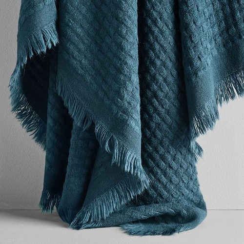 Used West Elm Waffle Weave Throw for sale on AptDeco