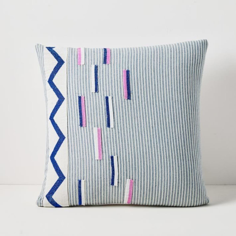 West Elm Roar + Rabbit Beaded Pillow Cover - image-1