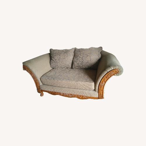 Used Levitz Furniture Solid Wood Levitz Traditional Loveseat for sale on AptDeco