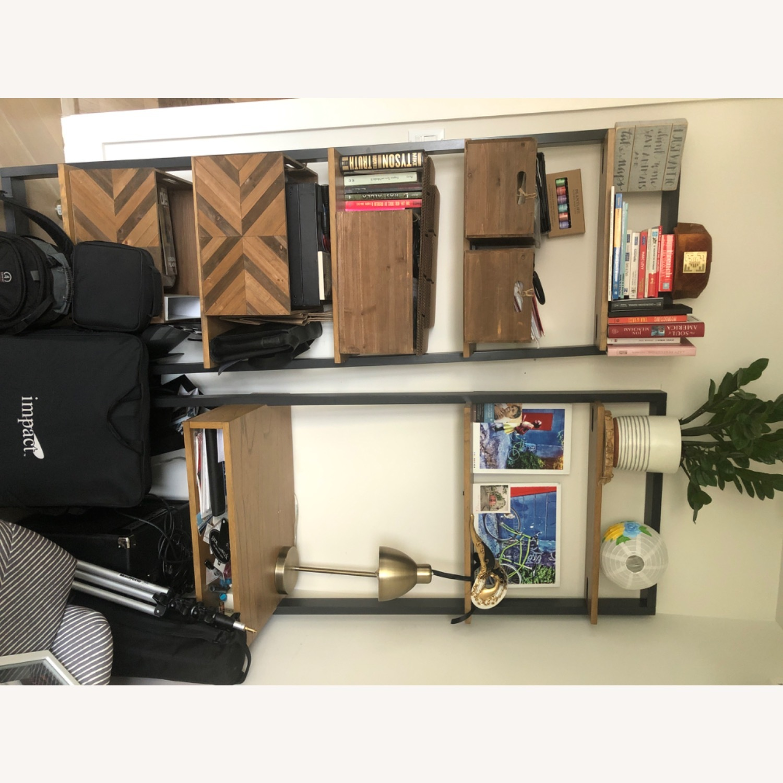 West Elm Ladder Desk And Wide Shelf Aptdeco