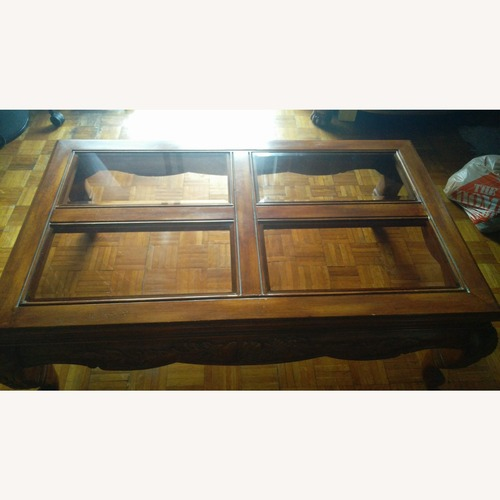 Used Levitz Furniture Style Solid Wood Coffee Table for sale on AptDeco