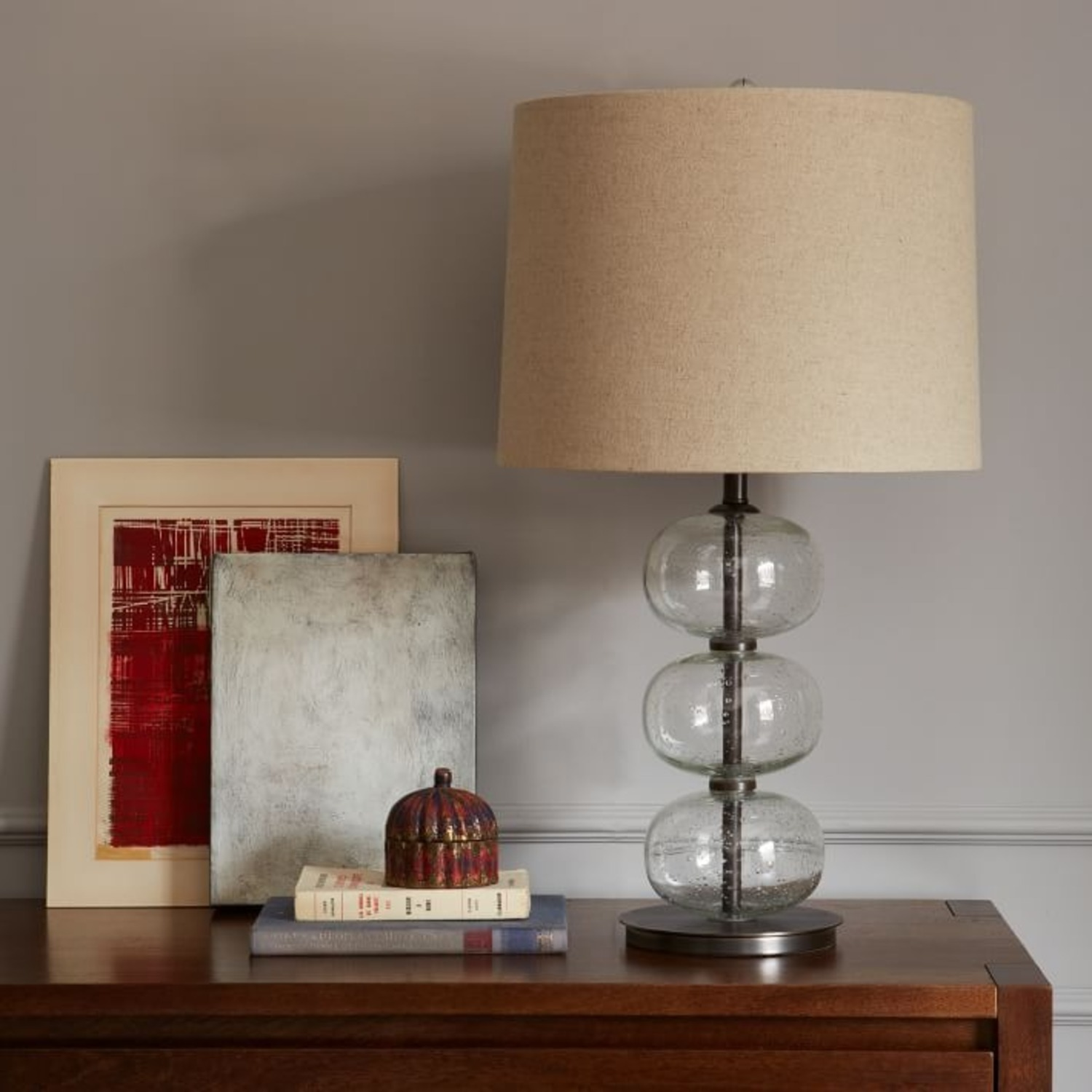 West Elm Abacus Glass Table Lamp - image-3