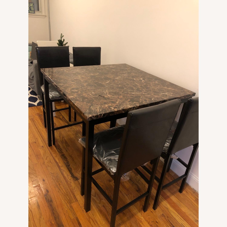 White Cane Outdoor Furniture, Wayfair Noyes 5 Piece Counter Height Dining Set Aptdeco