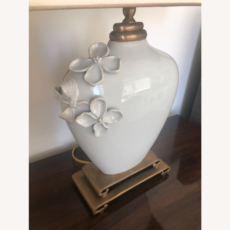 Neiman Marcus Ceramic Chinoiserie Lamp - image-3