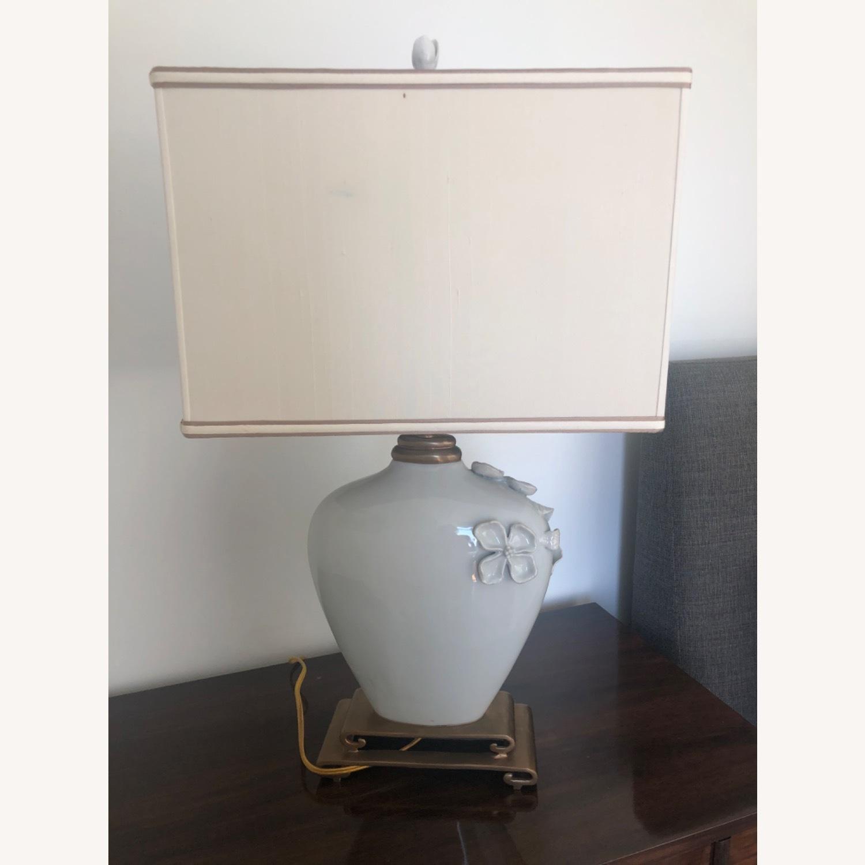 Neiman Marcus Ceramic Chinoiserie Lamp - image-5