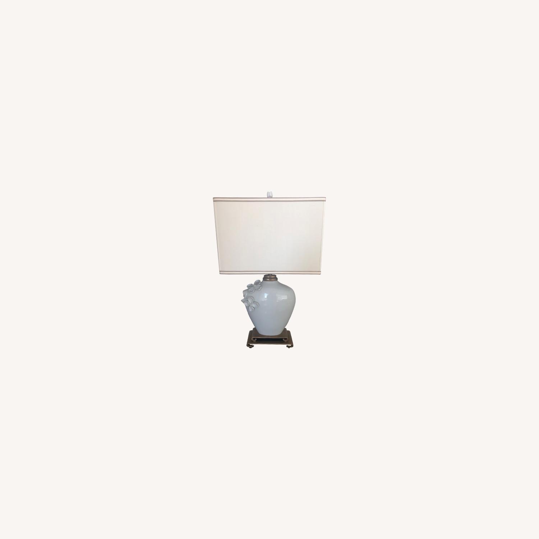 Neiman Marcus Ceramic Chinoiserie Lamp - image-0