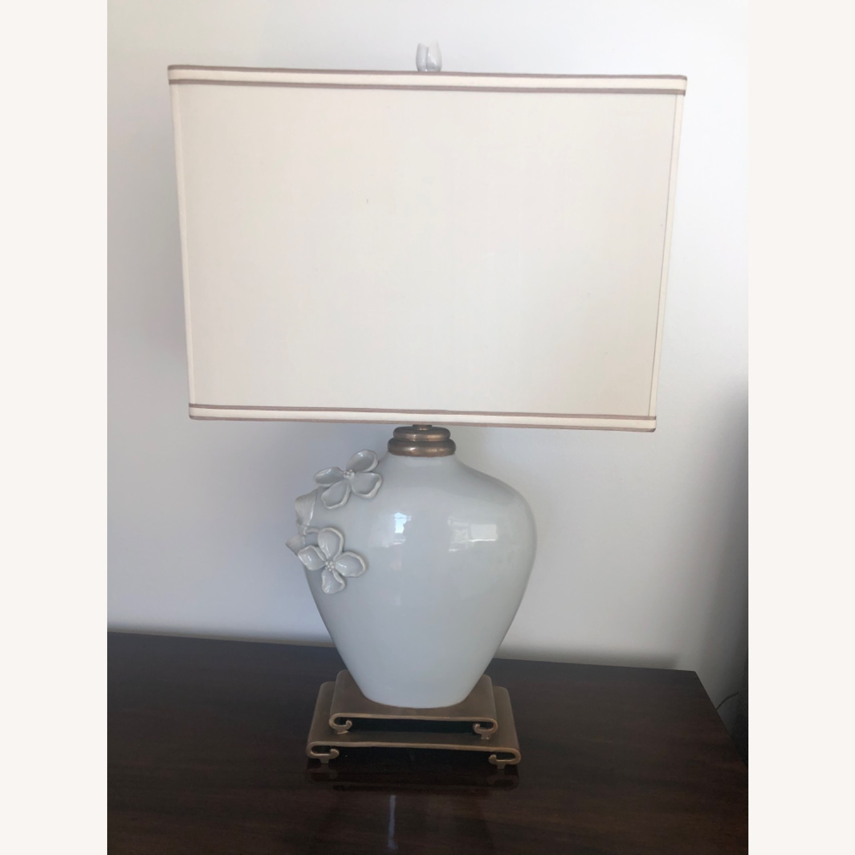 Neiman Marcus Ceramic Chinoiserie Lamp - image-1