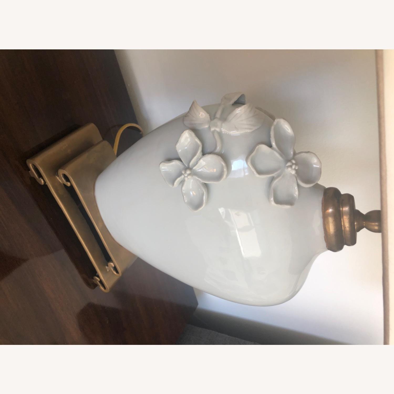 Neiman Marcus Ceramic Chinoiserie Lamp - image-11