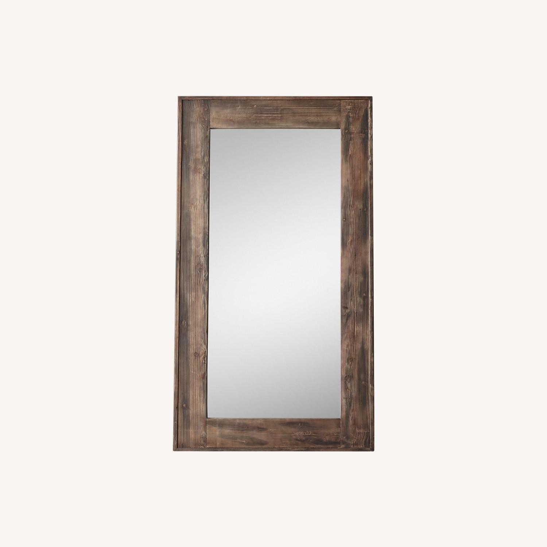 Restoration Hardware Salvaged Wood Leaner Mirror - image-0