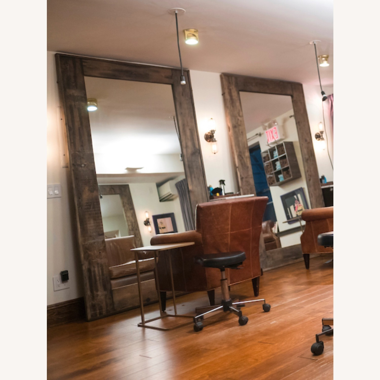 Restoration Hardware Salvaged Wood Leaner Mirror - image-2