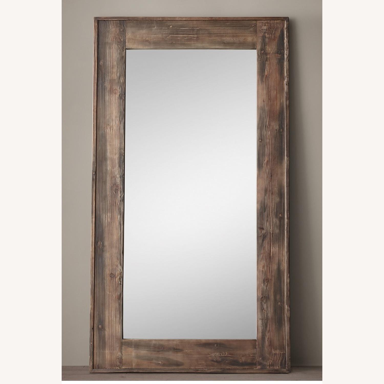 Restoration Hardware Salvaged Wood Leaner Mirror - image-1