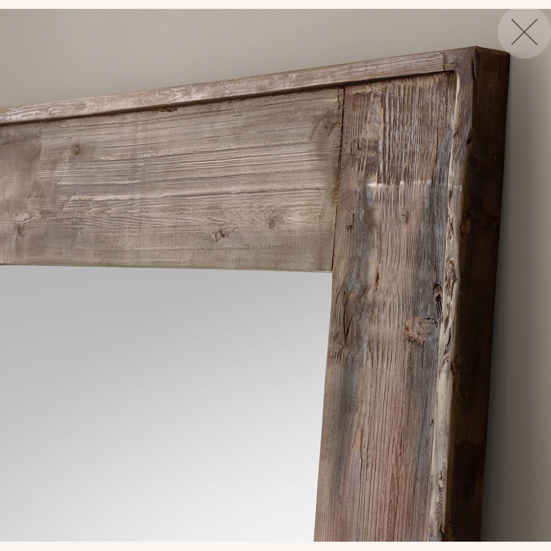 Restoration Hardware Salvaged Wood Leaner Mirror - image-3