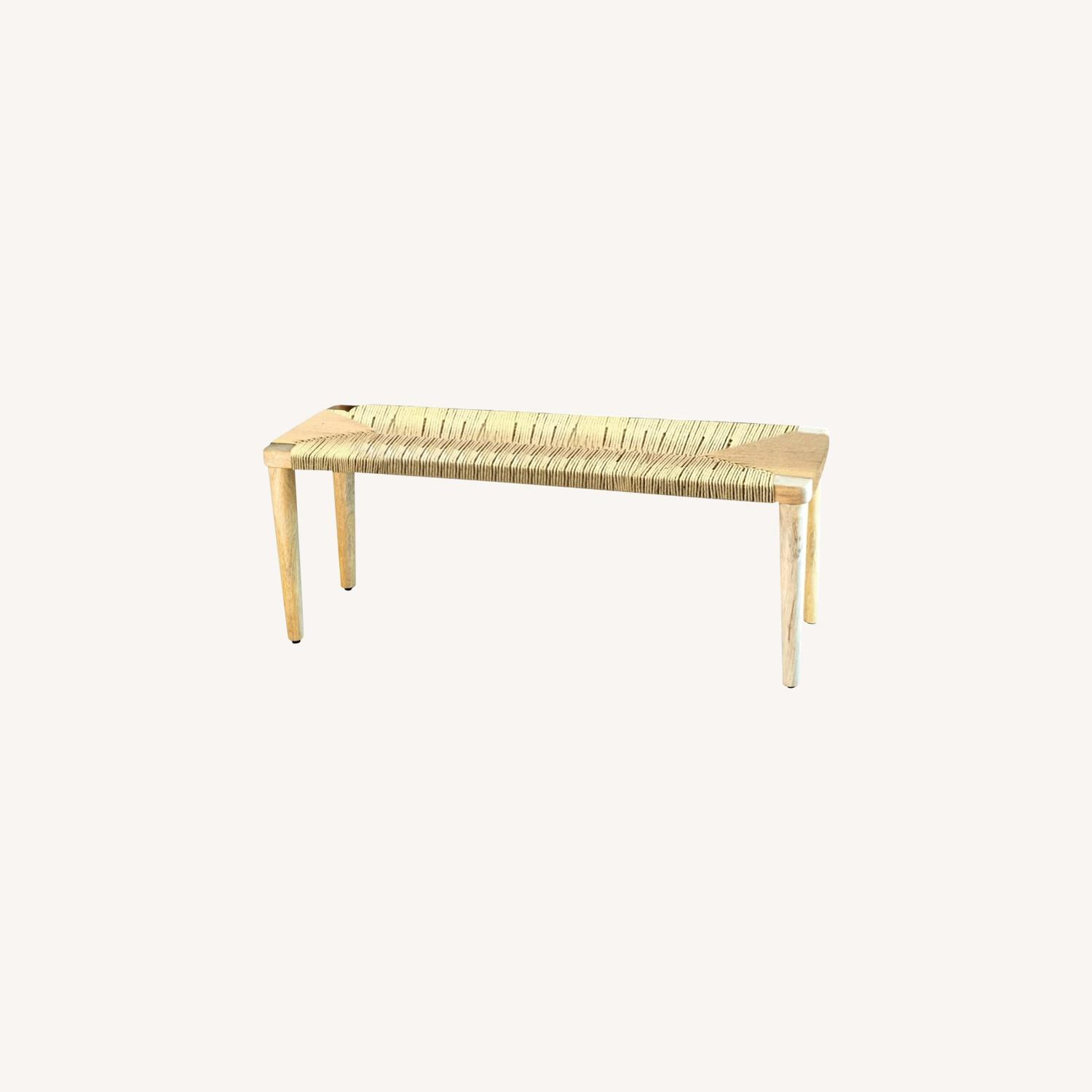 Classic Bench Made From Cotton Rope In Hazelnut - image-3