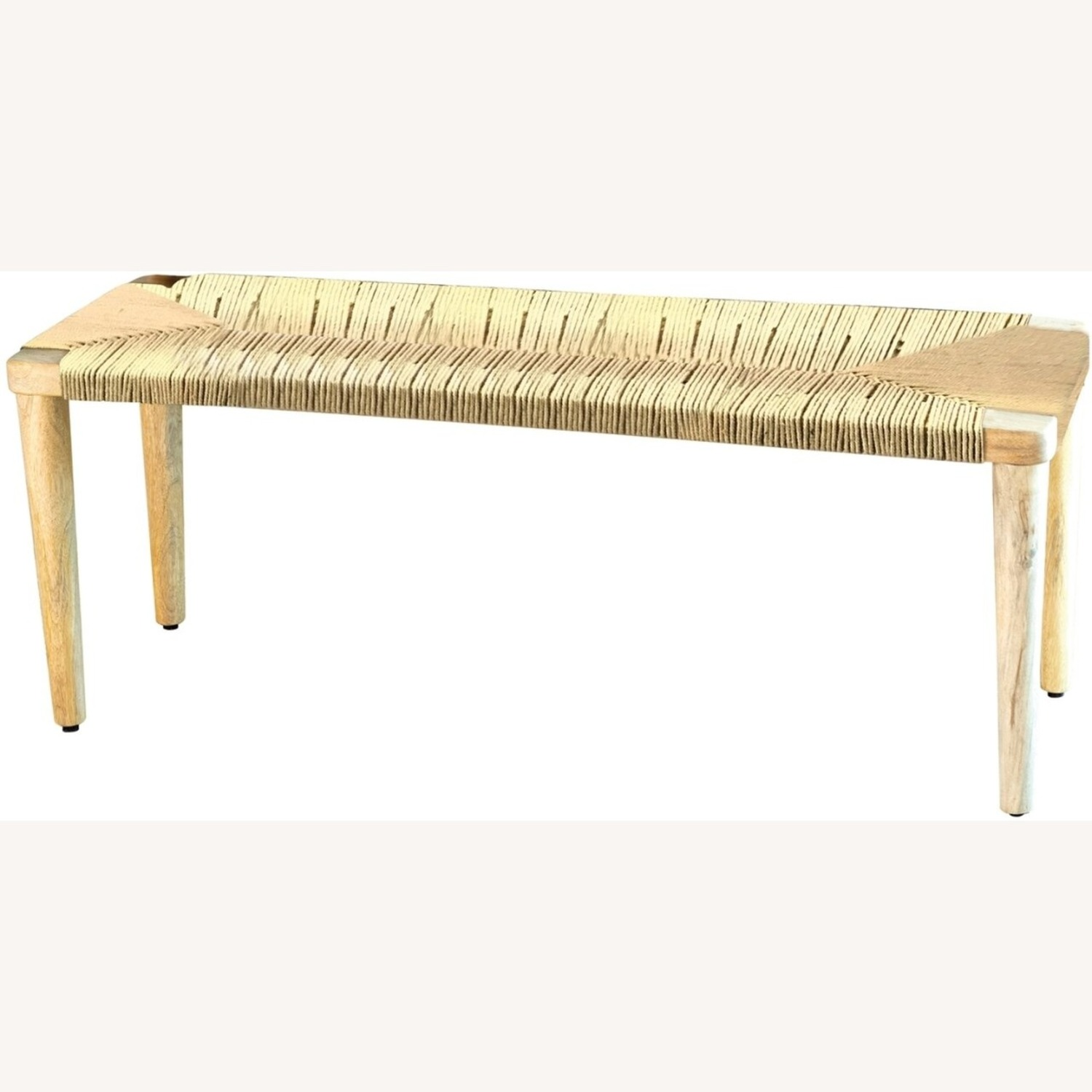 Classic Bench Made From Cotton Rope In Hazelnut - image-1