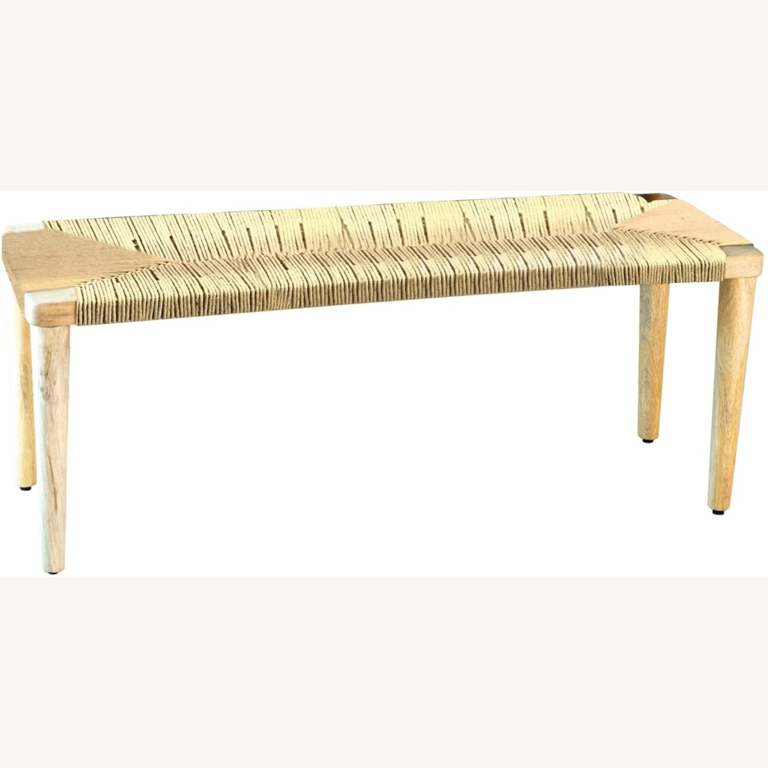 Classic Bench Made From Cotton Rope In Hazelnut - image-0