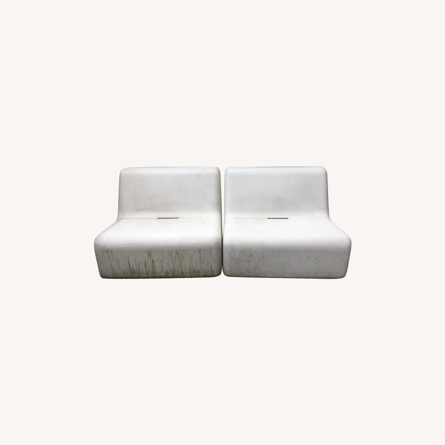 Modern Recycled Plastic Outdoor Seating - image-0