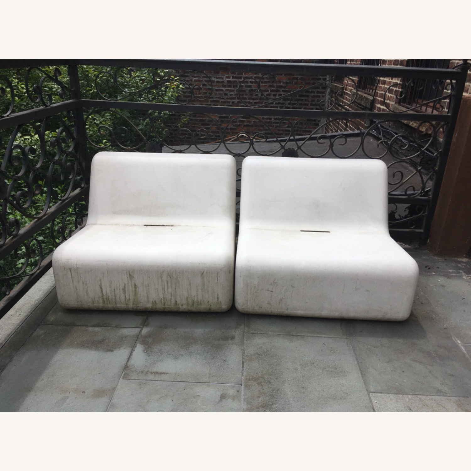 Modern Recycled Plastic Outdoor Seating - image-3