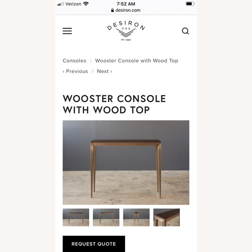 Used Desiron Brass and Burl Wooster Console for sale on AptDeco