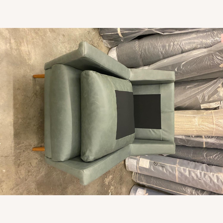 West Elm Carlo Mid Century Leather - image-5