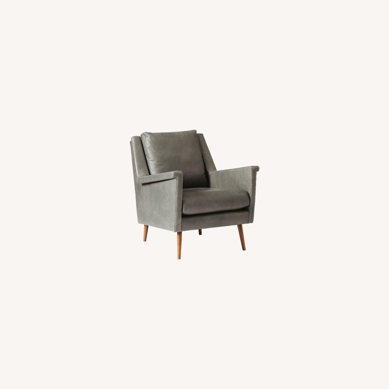 West Elm Carlo Mid Century Leather - image-10