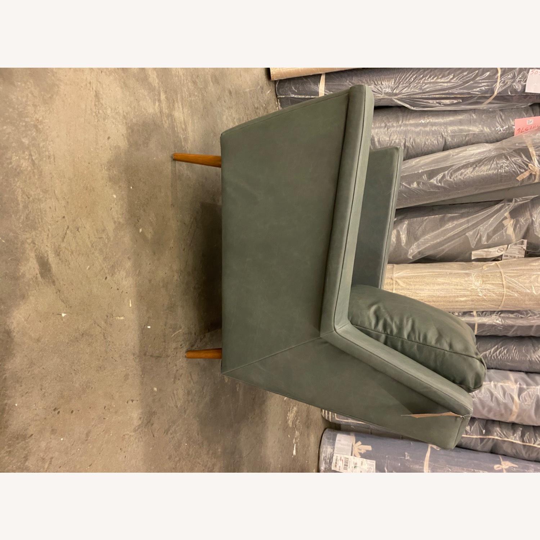 West Elm Carlo Mid Century Leather - image-7