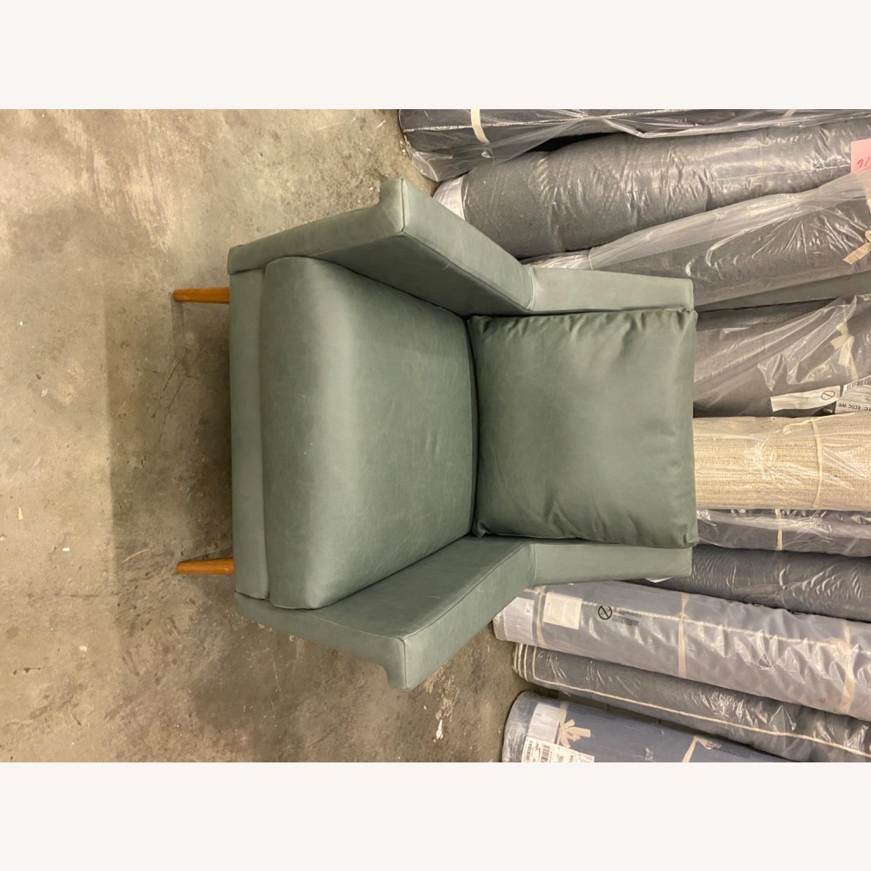 West Elm Carlo Mid Century Leather - image-4