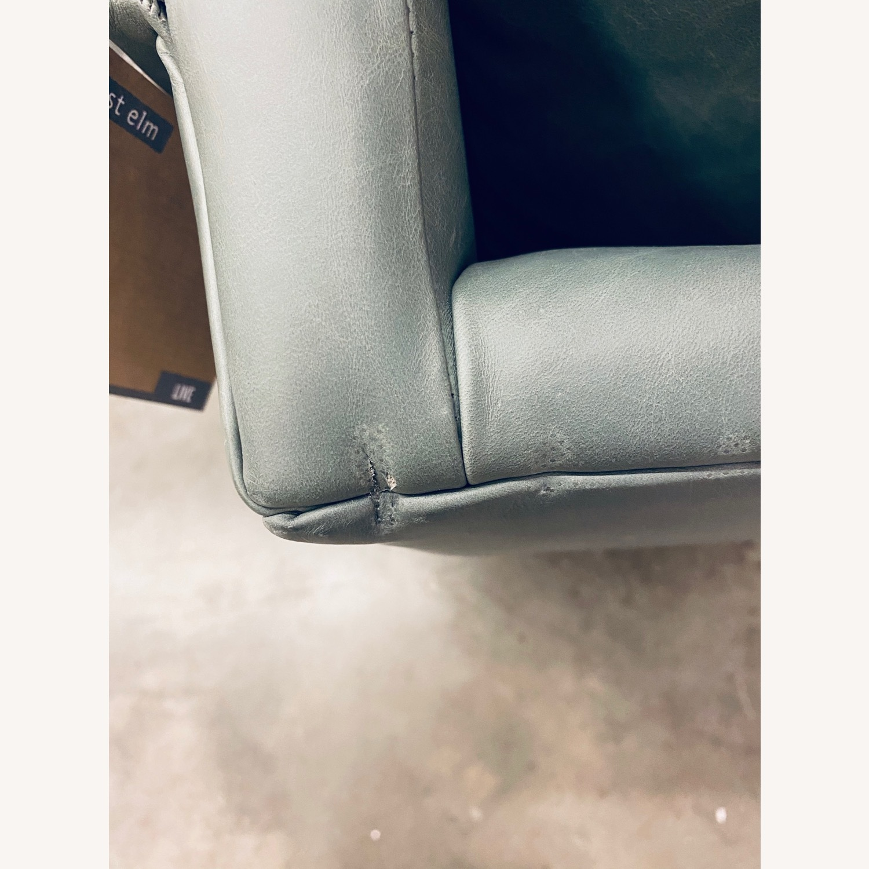 West Elm Carlo Mid Century Leather - image-3