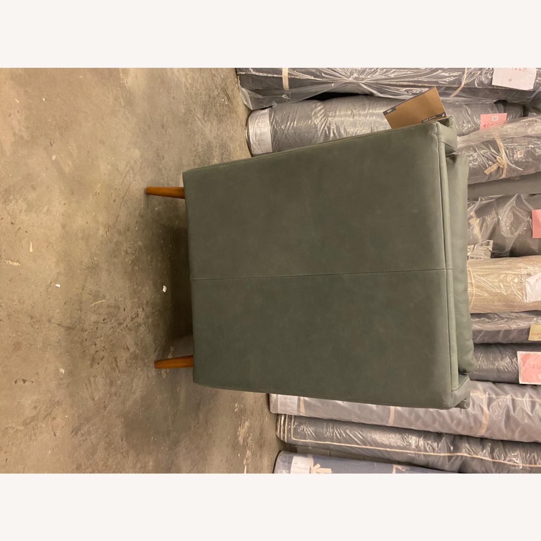 West Elm Carlo Mid Century Leather - image-8