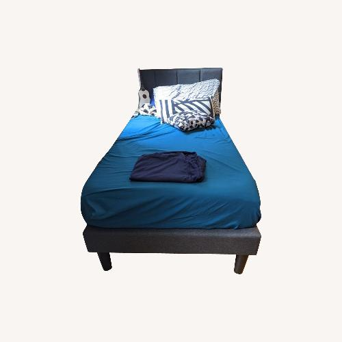 Used Twin bed with headboard for sale on AptDeco