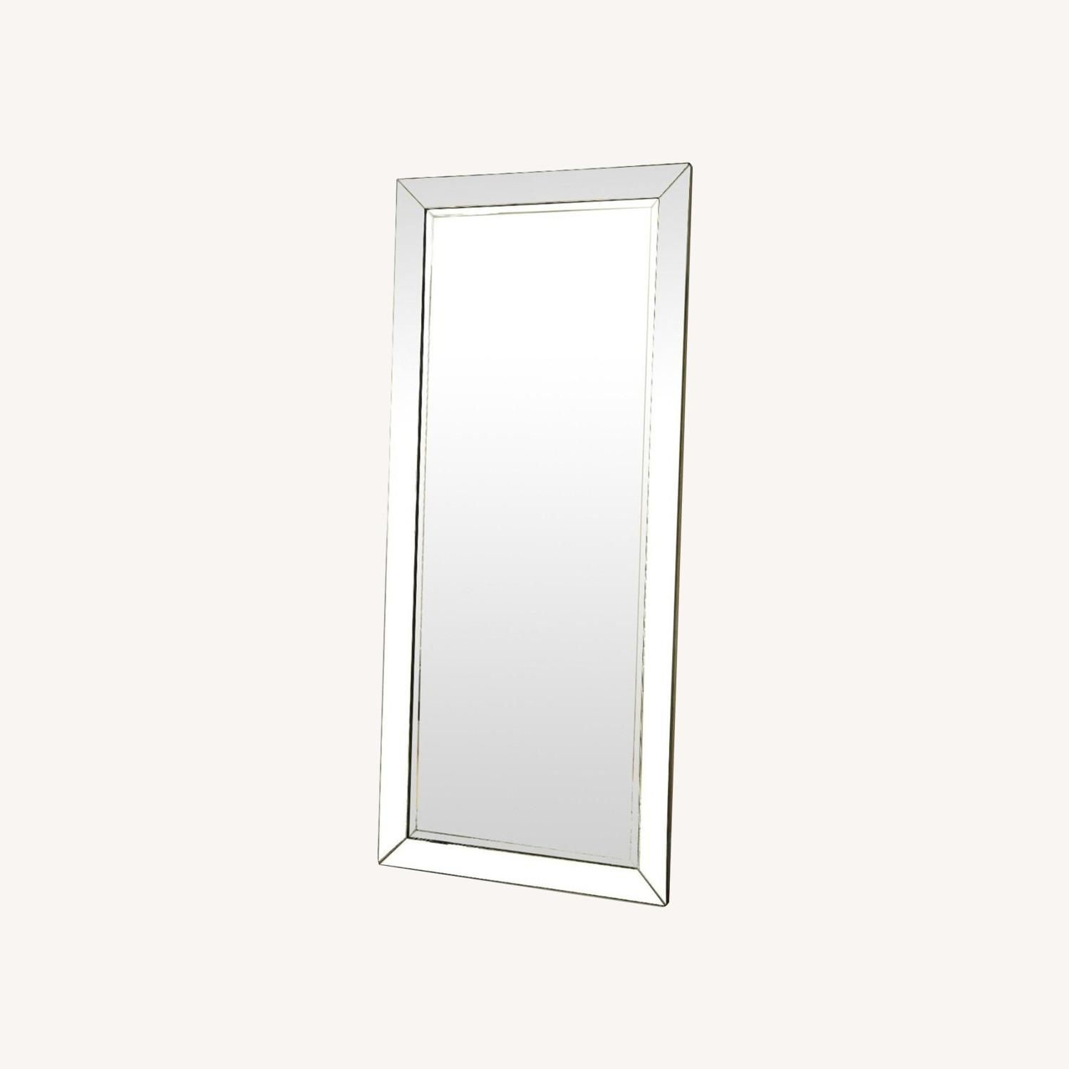 Contemporary Floor Mirror With Beveled Edges - image-3