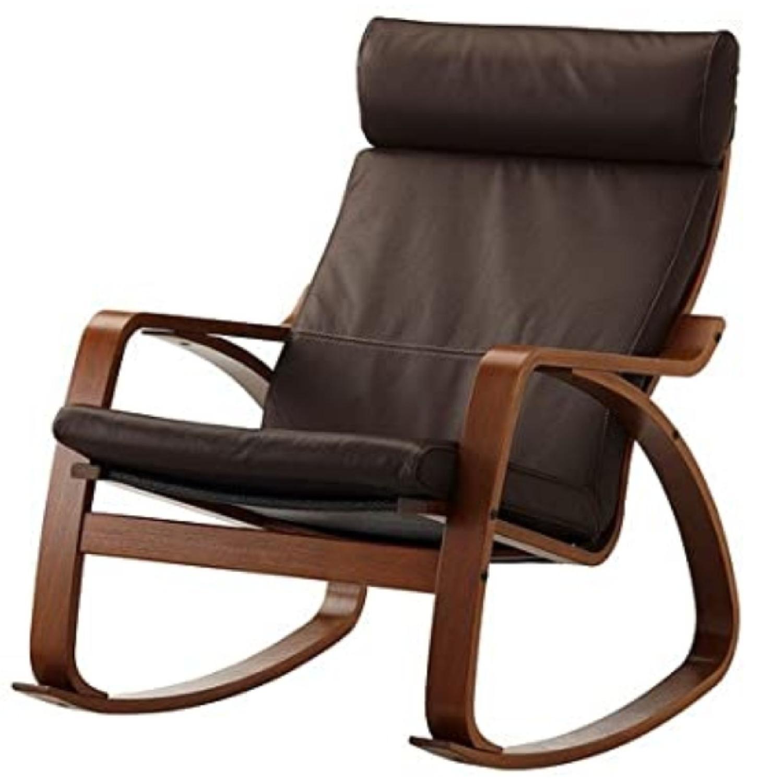 IKEA Poang Rocking Chair Medium Brown - AptDeco