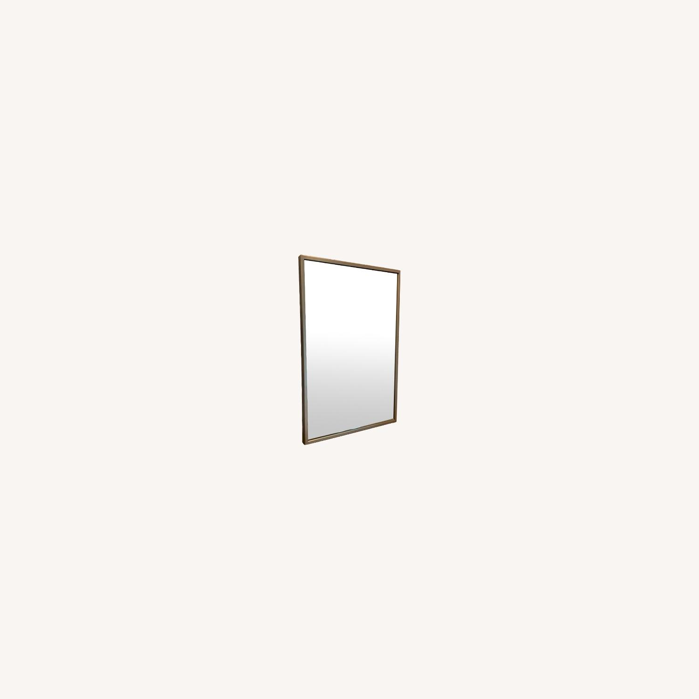 West Elm Chrome Mirror - image-0