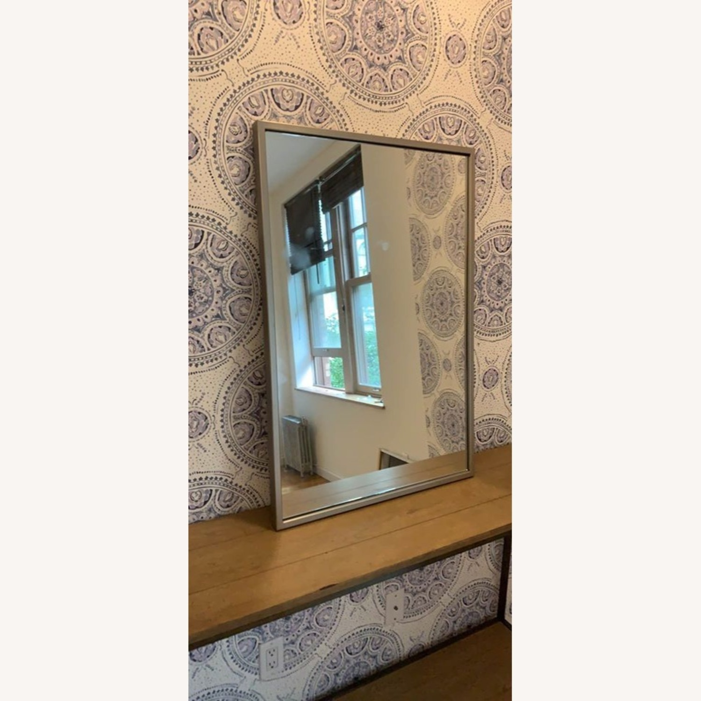 West Elm Chrome Mirror - image-2