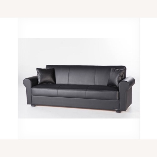 Used Istikbal Furniture Black Convertible Sofa Bed for sale on AptDeco