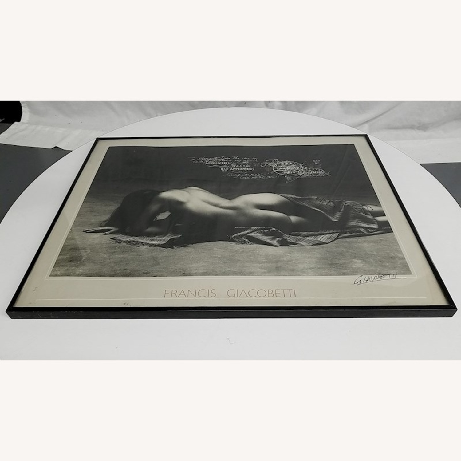 SIGNED Francis Giacobetti Photography Print, Frame - image-4
