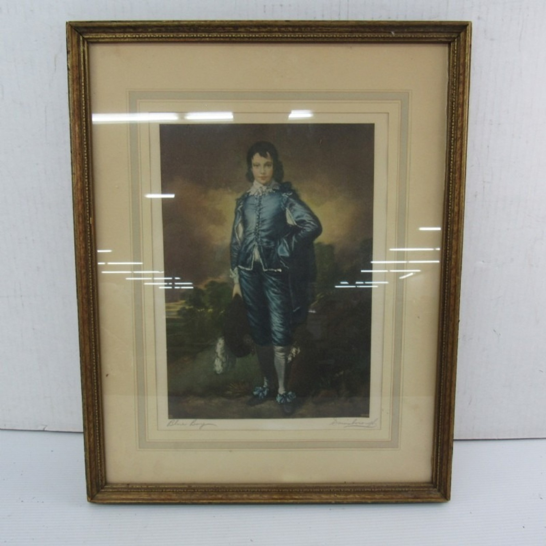 """Blue Boy"" by Gainsborough Org Litho - image-1"