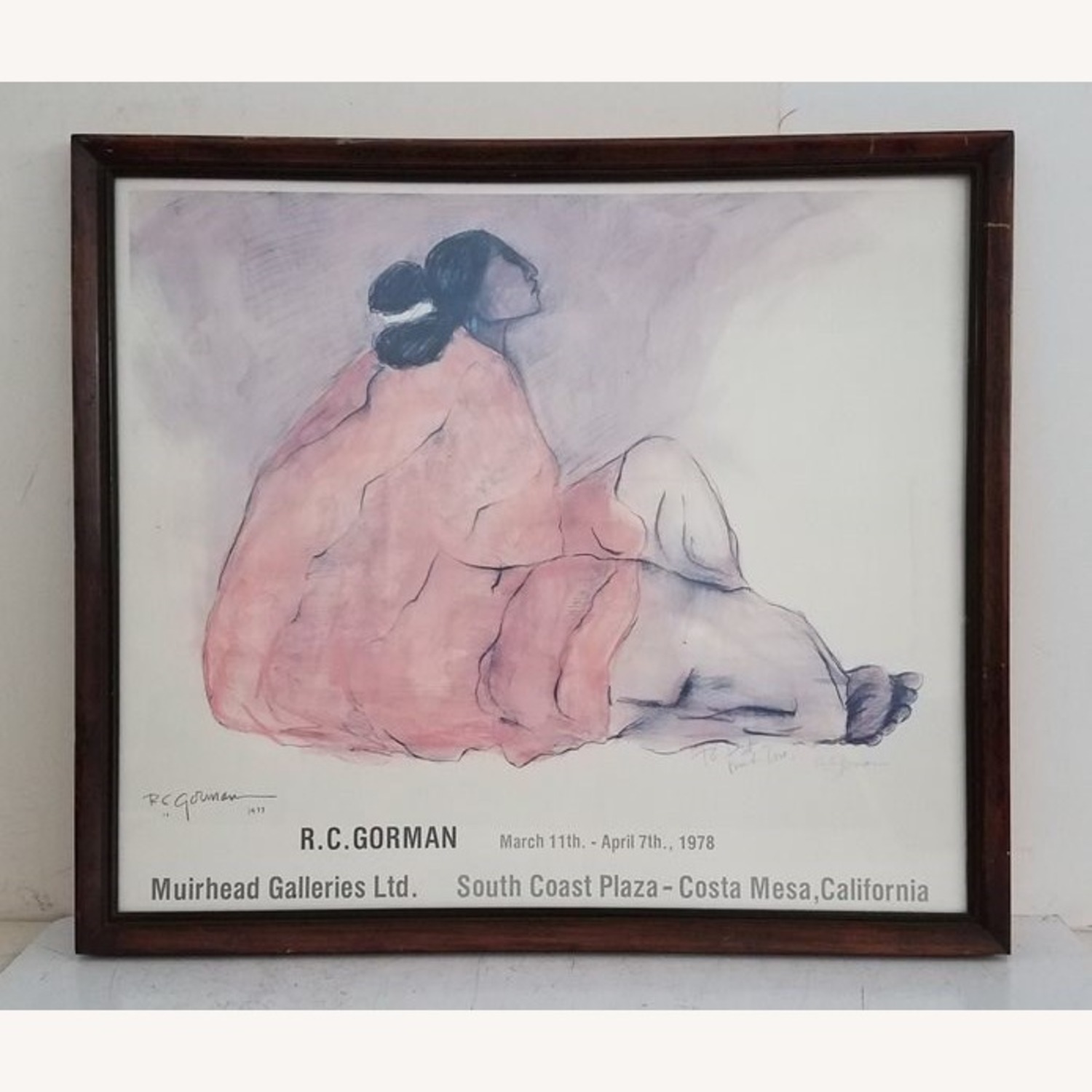 RC Gorman Signed 1978 Lithograph - image-1