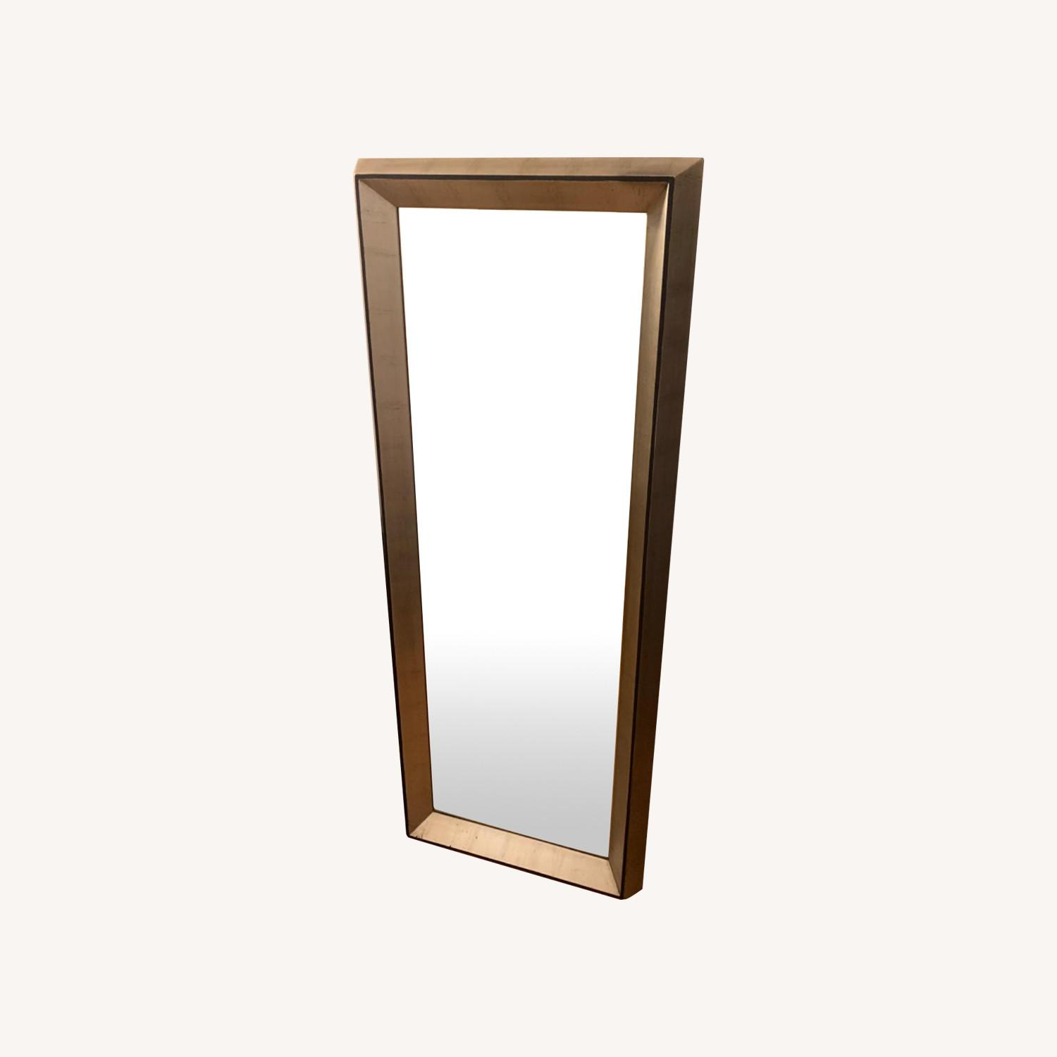 Wood Framed Floor Mirror - image-0